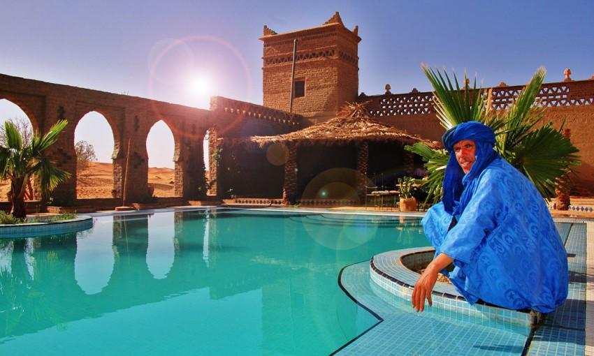 Hotel Auberge du Sud, Sahara Desert, Morocco